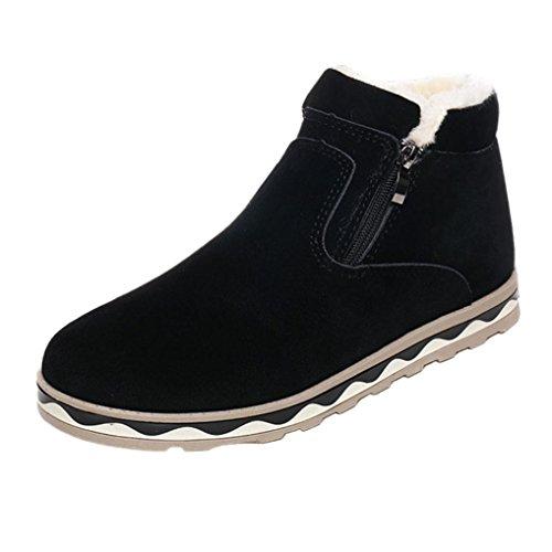 Botas Calientes De Invierno para Hombres,Toamen Botas De Nieve De Moda De Felpa A