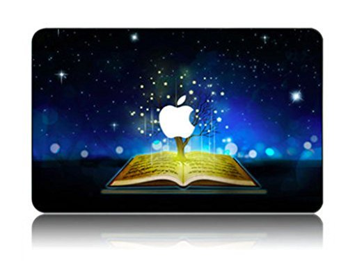Customized Creative Cartoon Series Reading Night Special Design Removable Vinyl Decal Top Front-cover Sticker Skin for Macbook Pro 13'' with Retina Display (Model A1425/a1502)