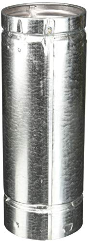 (Selkirk Type B Round Gas Vent Pipe Aluminum Inner/Steel Outer, 4
