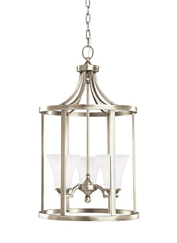 Sea Gull Lighting 51375EN3-965 Somerton Pendant, 3-Light LED 28.5 Total Watts, Antique Brushed Nickel