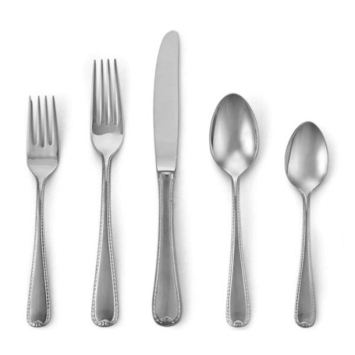 Gorham Ribbon Edge Stainless Flatware 5 Piece Place Setting