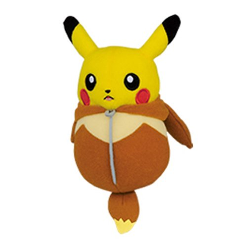 Banpresto Pokemon 37106A Nekuburo Pikachu Sleeping Bag Eevee Stuffed Plush, (Plush Sleeping Bags)