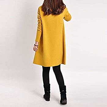 3d7bc5f532c2 Women Winter Long Sleeve Pocket Tunic Tops Loose Casual Cotton Pregnancy  Dress. Women Winter Long Sleeve Pocket Tunic Tops Loose Casual Cotton  Pregnancy ...