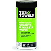 Tub O Towels TW40-GR Granite And Marble Cleaning, Polishing, Sealant All-In-One Wipes (Tub of 40 Wipes) by Tub O Towels