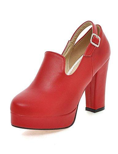 n vestido Mandorla Rosso di noche semicuero ® 36 EU tacones Punta tacones robusto ZQ Scarpe redonda Fiesta negro mujer ¨ Piattaforma tac SH5AOxw