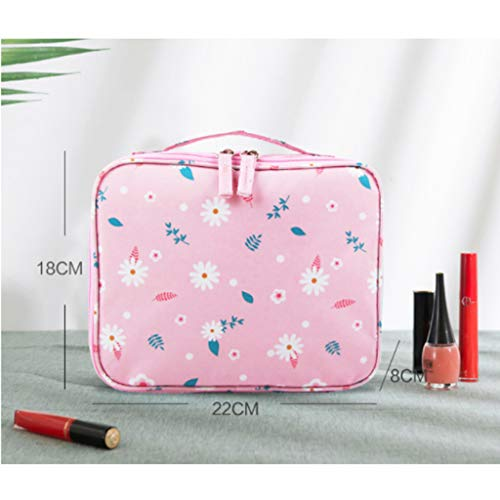 King Boutiques-Space Saver Bags Cosmetics Package Large Capacity Storage Bag Men and Women Handbags Cosmetic Bag Travel Waterproof Travel Toiletries Package (Color : Pink)