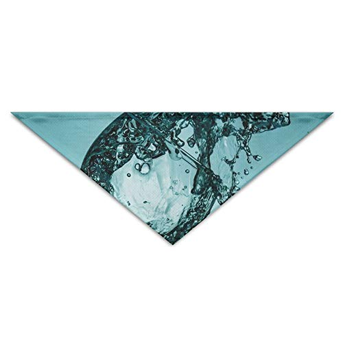 Jingclor Pet Triangle Bandana Water Glass Wine Art Washable Dog Puppy Scarf Bib Babys Neckerchief Accessories