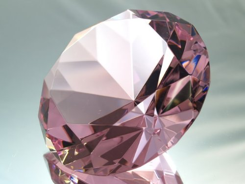 Diamond Shaped Paperweight Accent Decoration