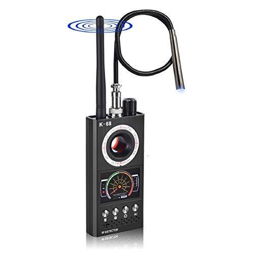 Anti Spy Detector & RF Detector & Wireless Bug Hidden Camera Detectors for GPS Tracking GSM Listening Device Finder,Camera Finder Signal Alarm
