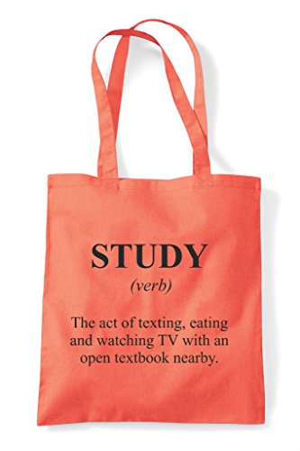 Study Funny Definition Bag Alternative Shopper Coral In Not Dictionary Tote The HqApOwxBH