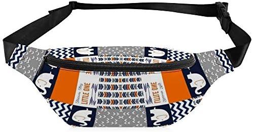 回転する象のパッチワーク6ブロック ウエストバッグ ショルダーバッグチェストバッグ ヒップバッグ 多機能 防水 軽量 スポーツアウトドアクロスボディバッグユニセックスピクニック小旅行