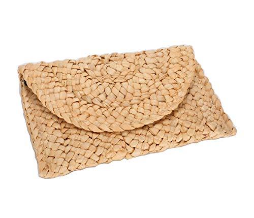 Straw Purse Straw Clutch Handbag Envelope Bag Wallet Summer Beach Bag(clutch ()