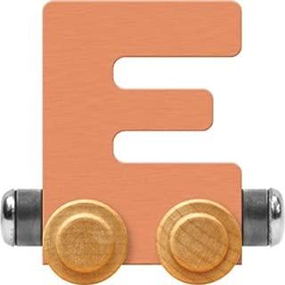 product image for Maple Landmark NameTrain Pastel Letter Car E - Made in USA (Orange)