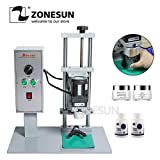 FINCOS ZONESUN Semi-Auto Bottle Cap Screw Capping Machine Bottle Capper Sealer Electric Capping Tool Cola Soft Drink Bottle Chuck 10-50 - (Color: US Plug)
