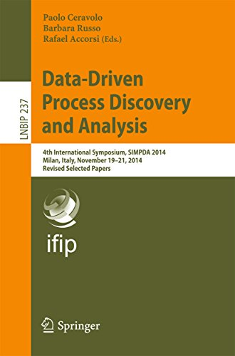 Data-Driven Process Discovery and Analysis: 4th International Symposium, SIMPDA 2014, Milan, Italy, November 19-21, 2014, Revised Selected Papers (Lecture ... Business Information Processing Book 237)