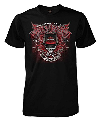 Winged Skull T-shirt - Harley-Davidson Men's Street Legend Winged Skull Short Sleeve Tee, Black (XLT)