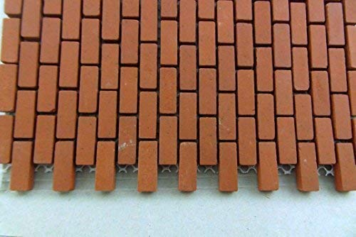 Town Square Miniatures Dolls House Miniature 1:12 Mesh Sheet Of Genuine Kiln-Fired Real Model Bricks