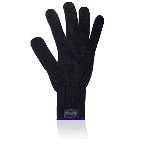 Dryer Spare Parts (MyProStyler - Black Glove With Blue Stitch - PROFESSIONAL Heat Resistant GLOVE. Use For Curling / Flat Iron)