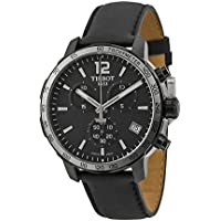 Tissot Quickster Chronograph Black Dial Black Leather Mens Watch T0954173605702
