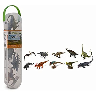 "Collecta Box of Mini Dinosaurs 1 - 10 Piece Set of Mini Dinosaur Toy Figures Ranging from 1"" to 2.5"" Each: Toys & Games"