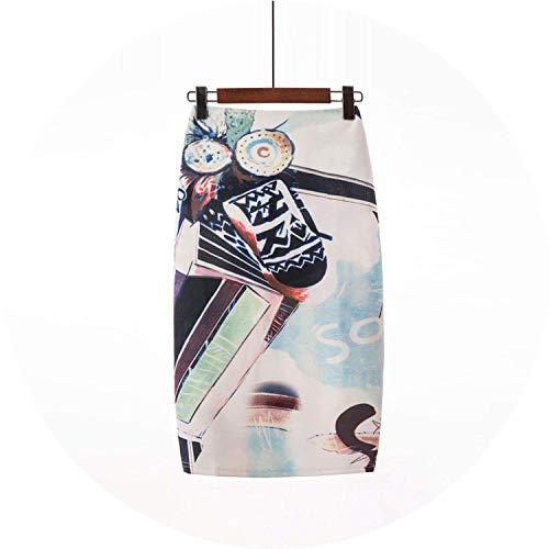 (Pencil Skirt Women High Waist Green Skirts Vintage Elegant Bodycon Floral Print Midi Skirt,Small,Color23)