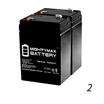 ML4-6 - 6V 4.5AH Replacement Battery for YT-645 with F1 Terminal - 2 Pack - Mighty Max Battery brand product