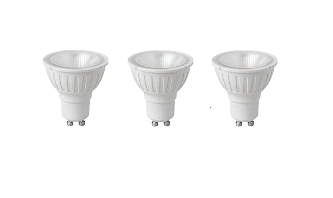 3 x Megaman 141724 5,5 Watt intensidad regulable GU10 LED bombilla – luz blanca