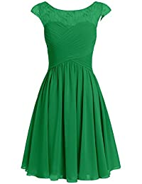 Cdress Women's Chiffon Short Bridesmaid Dresses Appliques Wedding Party Formal Gowns