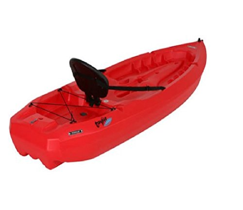 Lightweight Kayak Hard Shell with Paddle for Kids, Large Adult & Dog. Canoe Boat Hardshell 8 Ft Adjustable Seat & Storage Compartment. Recreational 38 Pound to Fishing any Saltwater Ocean River Lake by Lifetime Hard Shell Kayak (Image #2)
