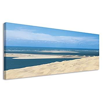 Vertikale Décoration Murale Tableau Toile Bassin Darcachon Banc D