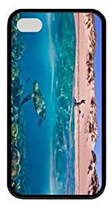 cases thinnest turtle beach underwater TPU Black Case for iphone 4/4S