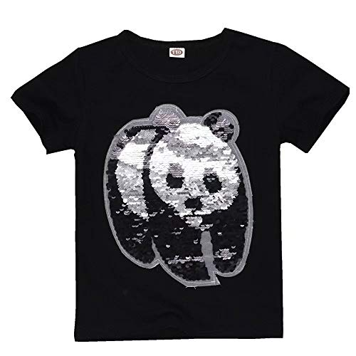 Girls Boys Toddler T-Shirts Panda Flip Sequins Short Sleeve Tee Shirt ()