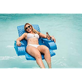 Esterna Folding Regular and Lounge Chair Foam Pool Floats – Super Soft, Adjustable, Folding Foam Pool Float (Chair Float)