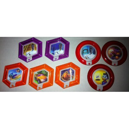 DISNEY INFINITY - COMPLETE SET OF 8 EXCLUSIVE TOYS R US POWER DISCS! by Disney Infinity