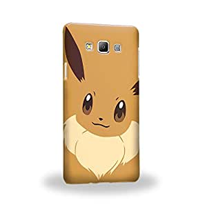 Case88 Premium Designs Pokemon Eevee Carcasa/Funda dura para el Samsung Galaxy A7