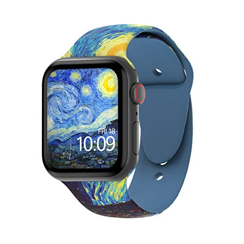 MobyFox 42MM Smartwatch Band Compatible with Apple Watch Series 1, 2, 3, 4 - Van Gogh's Starry - Harry Potter Watch Band