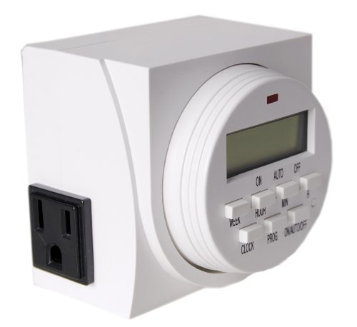 41W1G l8rlL - Autopilot TM01715D Dual Outlet 7-Day Grounded Digital Programmable Timer, 1725W, 15A, 1 Second On/Off