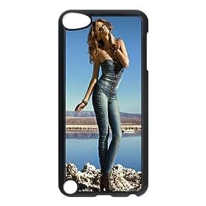 iPod Touch 5 Case Black Girl in Blue OJ674061
