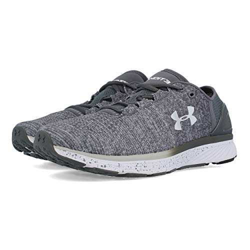Under Armour Men's Charged Bandit 3 Running Shoe, Glacier (002)/Rhino Gray, 9