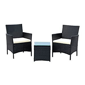 41W1GlnEReL._SS300_ 100+ Black Wicker Patio Furniture Sets For 2020