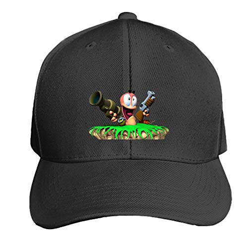 Peaked hat Worms Adjustable Sandwich Baseball Cap Cotton Snapback ()