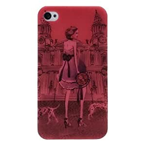 Beauty Girl Pattern Plastic Hard Case for iPhone 4 4S