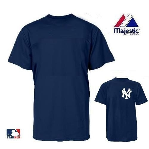 New York Yankees MLB Officially Licensed 100% Cotton Crewneck (Blank Back) Adult (New York Yankees Customized T-shirt)
