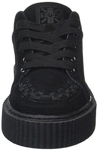 TUK Casbah Creeper Interlaced, Zapatos de Cordones Oxford Unisex Adulto Noir (Black Cow Suede)