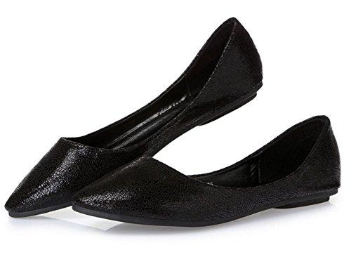 Ballerines Casual Ballerines Pour Femmes Sur Les Chaussures Plates Confort  Noir ebc6daf39dbe