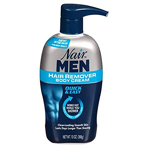 Nair Hair Remover Men Body Cream 368 ml Pump by Nair- Mens best hair removal cream for private parts