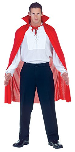 Underwraps Men's 38 Inch Sheer Cape, Red, One Size - Last Minute Halloween Costumes Ideas For Adults