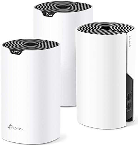 TP-Link Deco Whole Home Mesh WiFi System– Up to five,500 Sq.feet. Coverage, WiFi Router/Extender Replacement, Gigabit Ports,Seamless Roaming, Parental Controls, Works with Alexa(Deco S4 3-Pack) (Renewed)