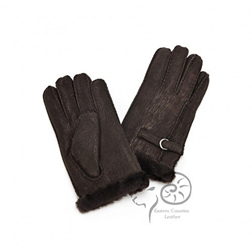 セール強打仕事に行く(イースタン?カウンティーズ?レザー) Eastern Counties Leather レディース バックル付き シープスキン 手袋 グローブ (L) (ベージュ)