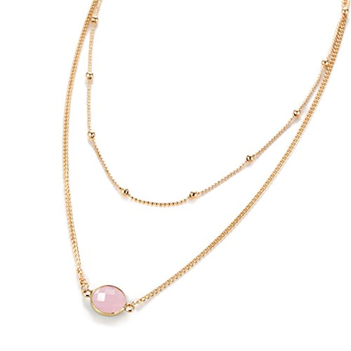 Pink Natural Stone Necklace - 6